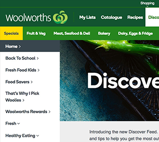 UI/UX Design for Woolworths